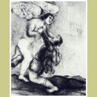 Marc Chagall Wrestling with the Angel