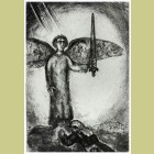 Marc Chagall Joshua Before Angel with Sword