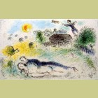 Marc Chagall (after) Les Amoureaux a l'Isba