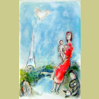 Marc Chagall (after) Maternite Rouge
