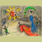 Marc Chagall Sun with Red Horse