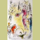 Marc Chagall (after) Les Clowns Musiciens