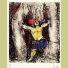 Marc Chagall Samson Overturns the Columns