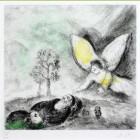 Marc Chagall Elijah Touched by an Angel