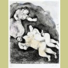 Marc Chagall Lot and His Daughters