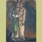 Marc Chagall God Sends Aaron into the Desert to Meet Moses, from The Story of Exodus