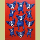 George Rodrigue Group Therapy: Red