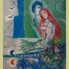 Marc Chagall (after) Sirene au poete (Siren with Poet)