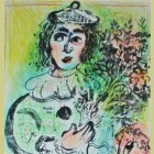 Marc Chagall The Clown with Flowers