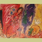 Marc Chagall (after) Maternite