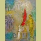 Marc Chagall Sacrifices Made to the Nymphs, from Daphnis and Chloe