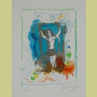 Marc Chagall Trapeze Acrobat with Bird