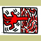 Keith Haring Ludo Plate 5