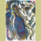 Marc Chagall God Turns Moses' Staff into a Serpent, from The Story of Exodus