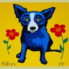 George Rodrigue Flower Girl - Yellow