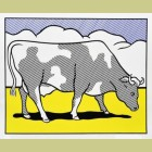Roy Lichtenstein Cow Triptych (Cow Going Abstract) Poster
