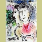 Marc Chagall Double Portrait at the Easel