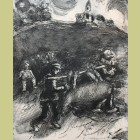 Marc Chagall The Miller, His Son, and the Donkey, from Les Fables de la Fontaine, Volume I