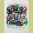 """Joan Miro Poster for the Exhibition """"Joan Miro: Oeuvre Grave et Lithographie"""""""
