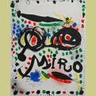 """Joan Miro Lithograph for the exhibition """"Joan Miro Graphics"""""""