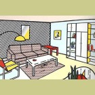 Roy Lichtenstein Modern Room
