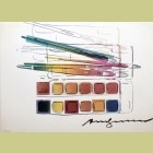Andy Warhol Watercolor Paint Kit with Brushes