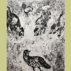 Marc Chagall The Partridge and the Roosters, from Fables of Jean de la Fontaine Volume II