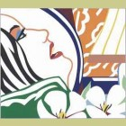 Tom Wesselmann Bedroom Face with Orange Wallpaper