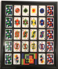 Here we floated a deck of cards decorated by Niki de Saint Phalle on a glossy black backing and framed in basic black.