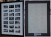 We can display materials in unique ways, such as this series of photographs from the 1960s. The photographs contained writing on the back of each, so we cut two identical 21-opening mats and mounted the photos between the two, allowing the viewer to see both the photos and their captions.
